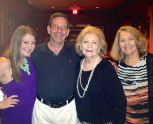 Fonda's oldest daughter Stephanie, Fonda's husband Jay, her mother Madelyn Schepps and Fonda Arbetter